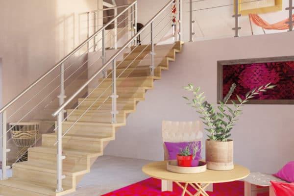 escalier d'intérieur moderne et design en bois