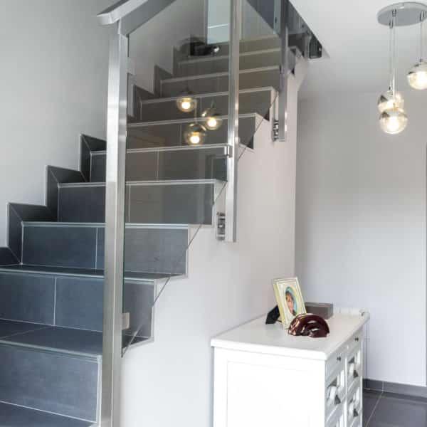 rampe pour escalier en inox