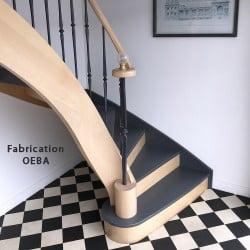 escalier en bois de prestige - fabricant oeba