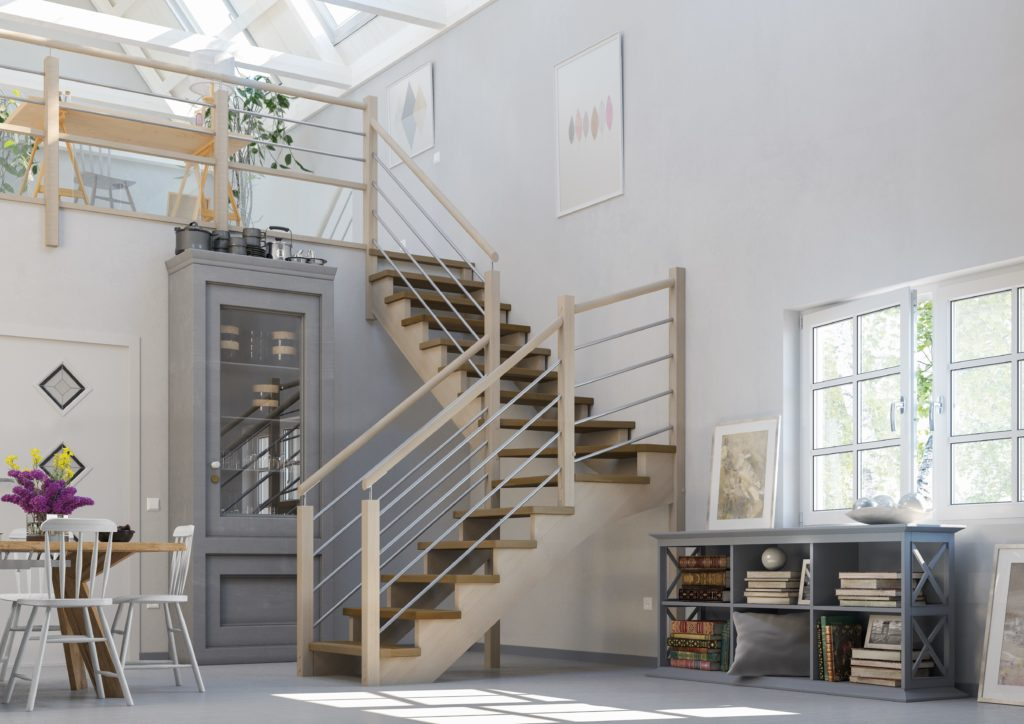escalier bois moderne pour son intérieur