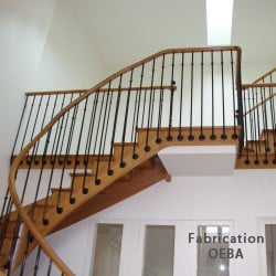 escalier en bois design du fabricant oeba