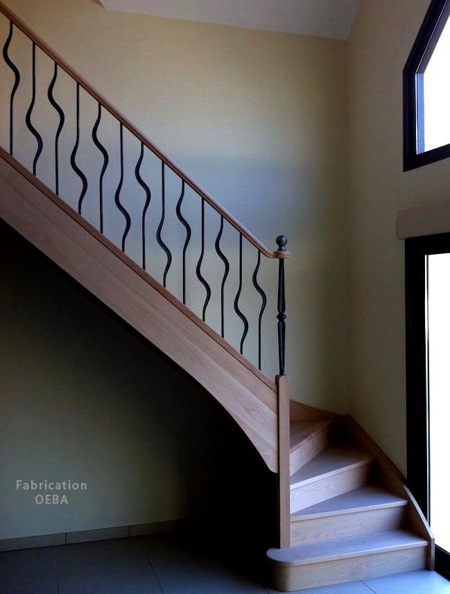 fabricant escalier en bois design oeba