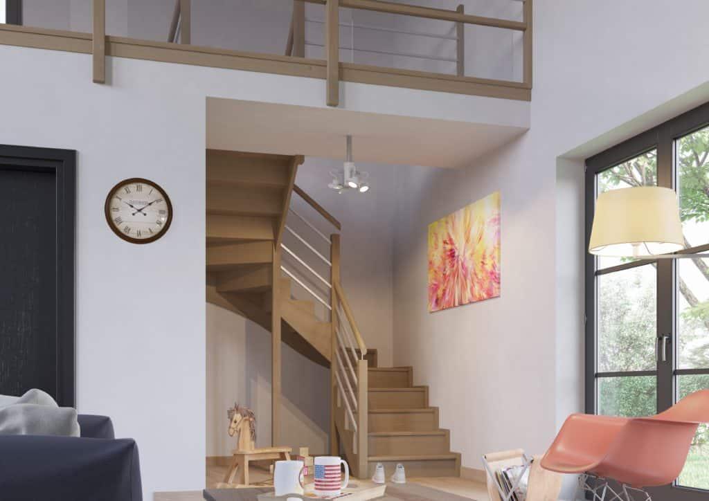 escalier en bois sur mesure - c mon escalier