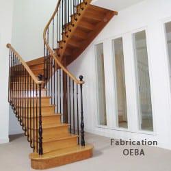 escalier du fabricant oeba en bois et rambarde design