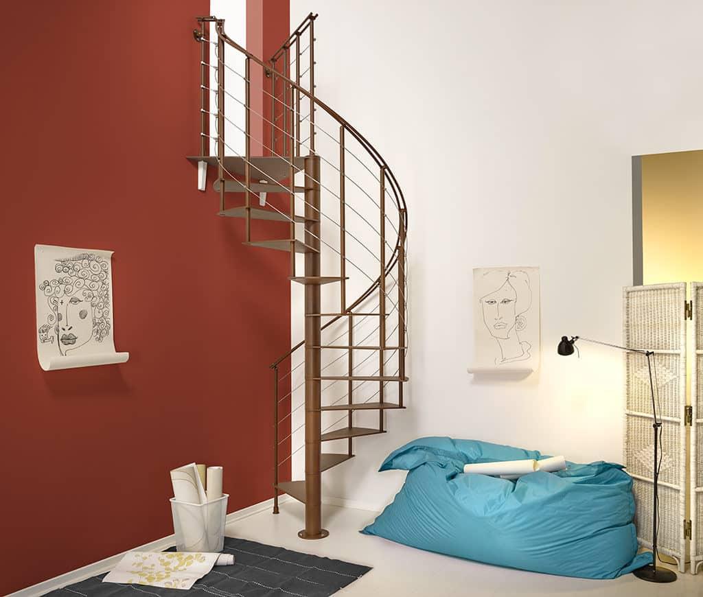 escalier en kit, colimaçon et design