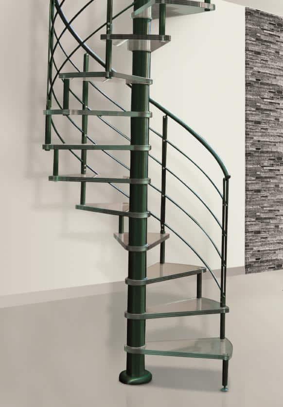 escalier intérieur design avec marche en verre
