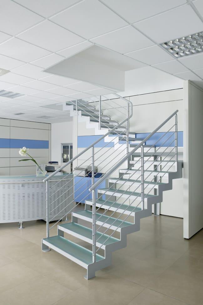 escalier en verre ultra design
