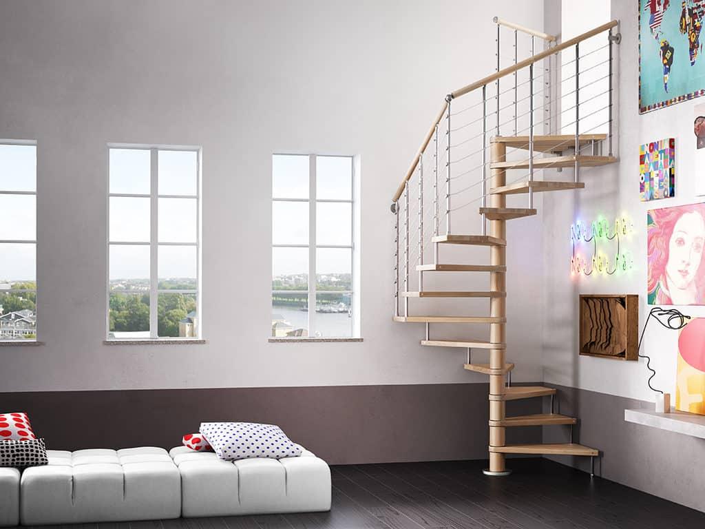escalier sur mesure en bois et métal