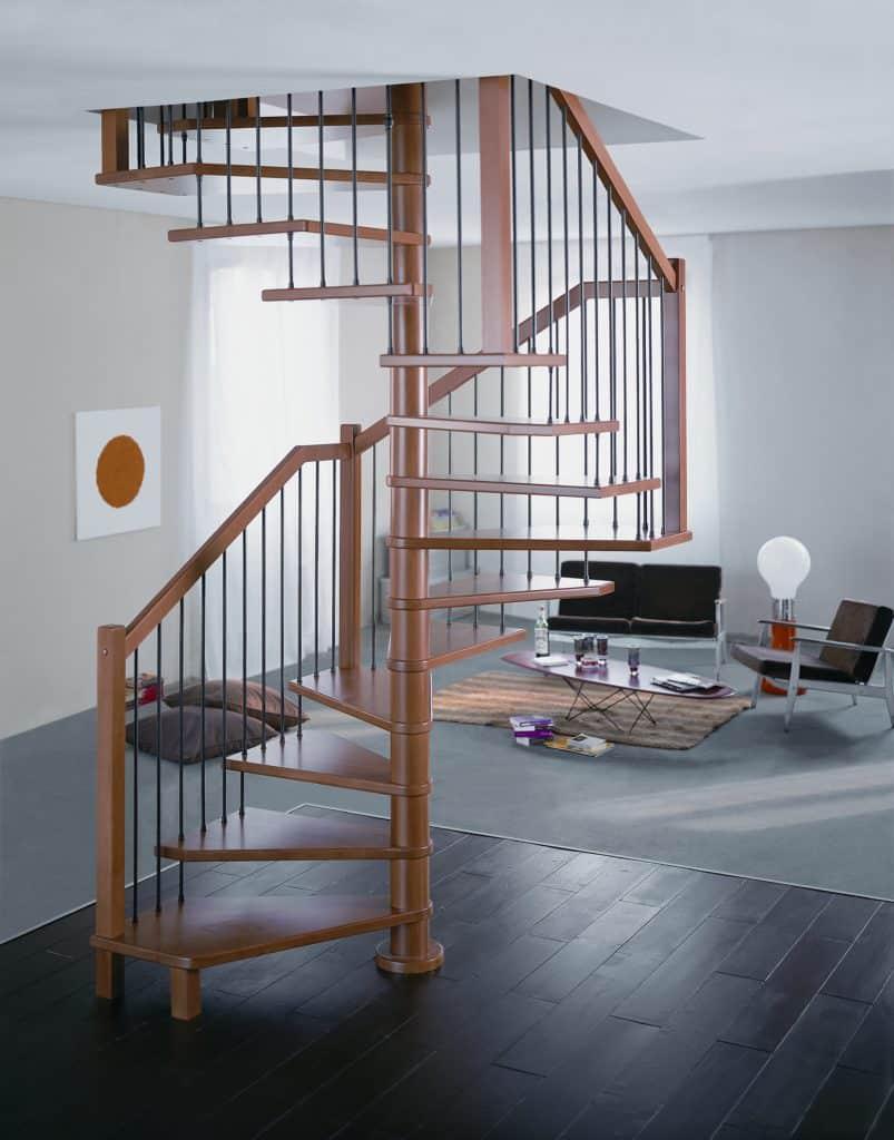 escalier hélicoïdal en métal de la gamme c courbe