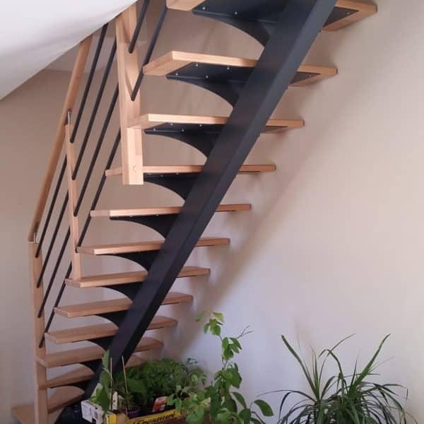 escalier avec limon central en métal