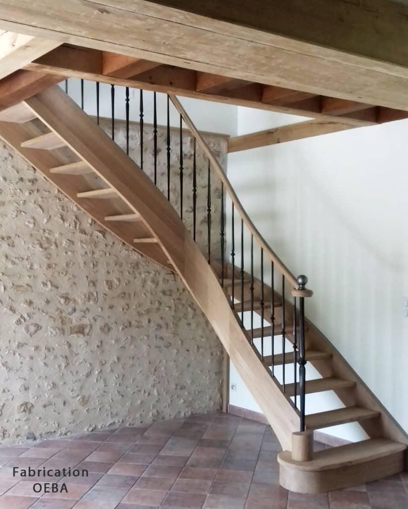 escalier en bois oeba - c mon escalier