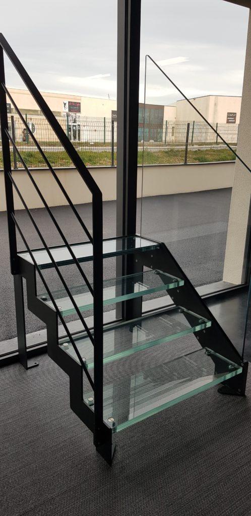 escalier en verre gamme c transparence