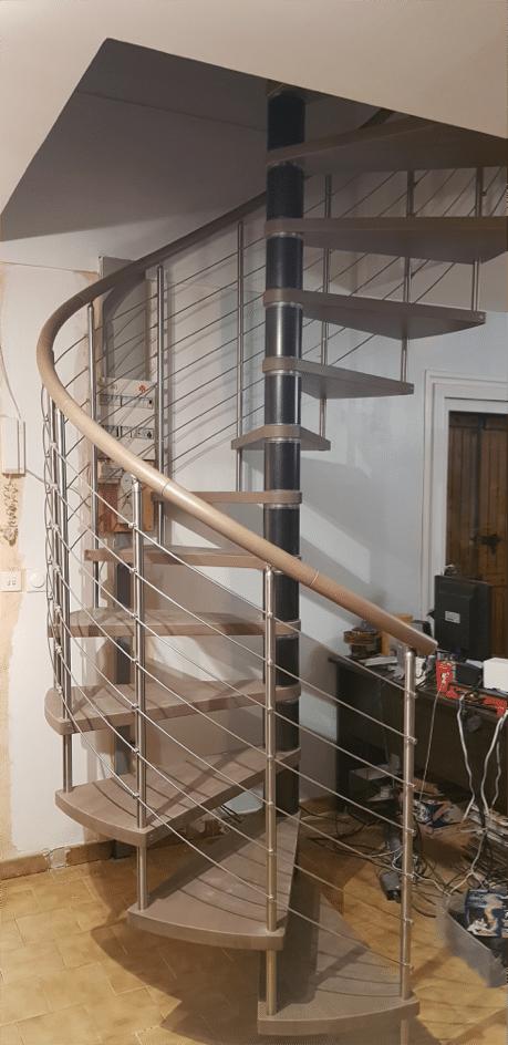 escalier c courbe - réalisation à Valence