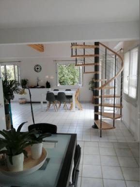 escalier de la gamme c courbe - réalisation