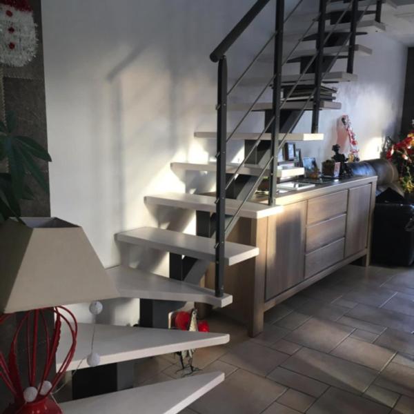 Réalisation escalier quart tournant bas