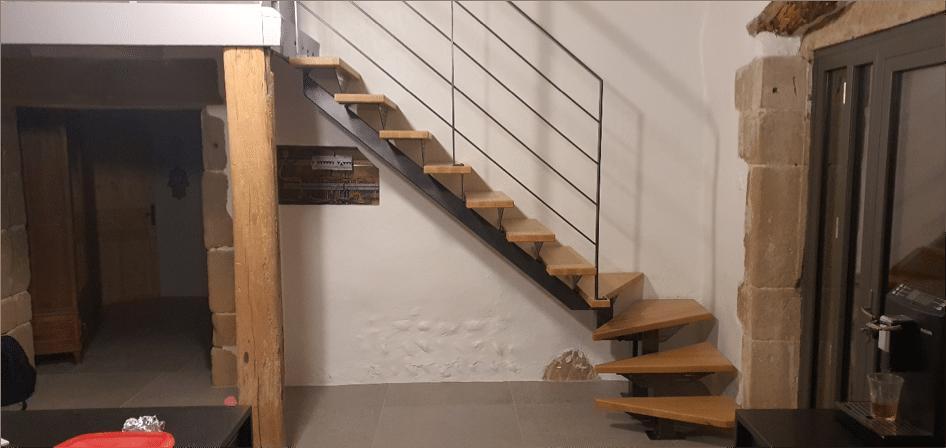réalisation d'un escalier sur mesure en 2019
