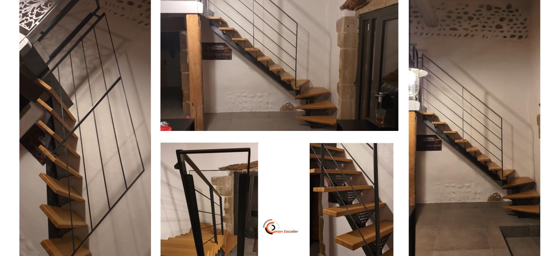 Escalier sur mesure : rampe et limon central