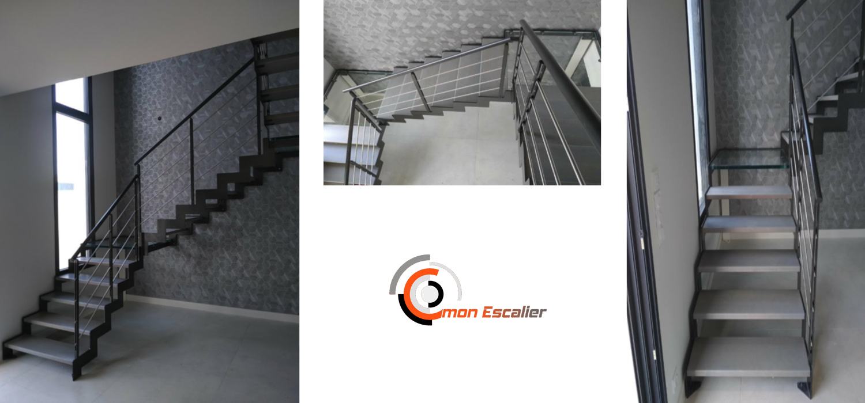 Réalisation escalier avec Crémaillères
